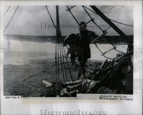 Press Photo Herman Watzinger Kon Tiki Expedition - RRW56871 - Historic Images