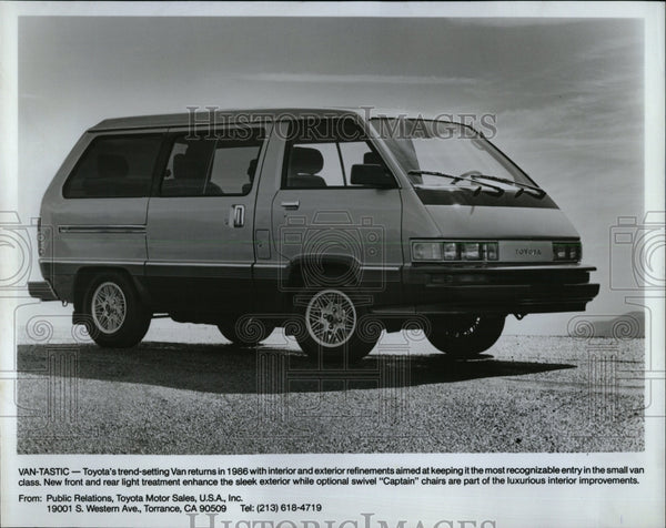 1986 Press Photo Toyota Van - RRW63169 - Historic Images