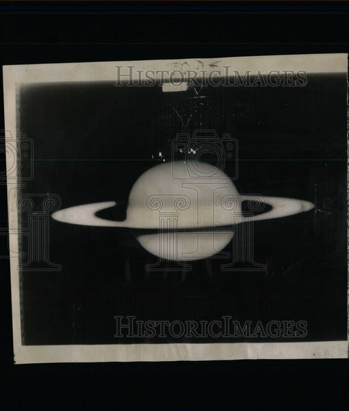 1952 Press Photo Hale Telescope picture of Saturn - RRW63969 - Historic Images