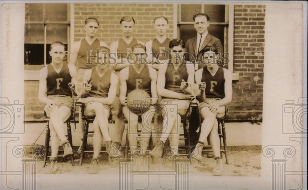 1923 Press Photo 1923 FHS Basketball Champions - RRW69423 - Historic Images