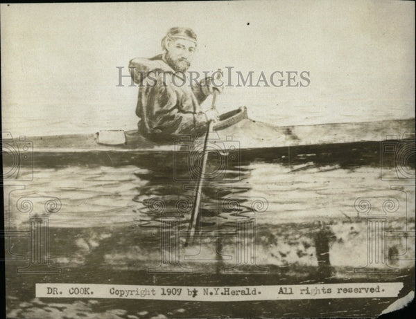 1907 Press Photo Dr. Cook/Boat - RRW78213 - Historic Images