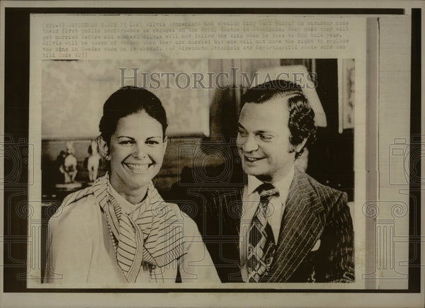 Press Photo Stivia Jenner lath Swedish King - RRW83503 - Historic Images