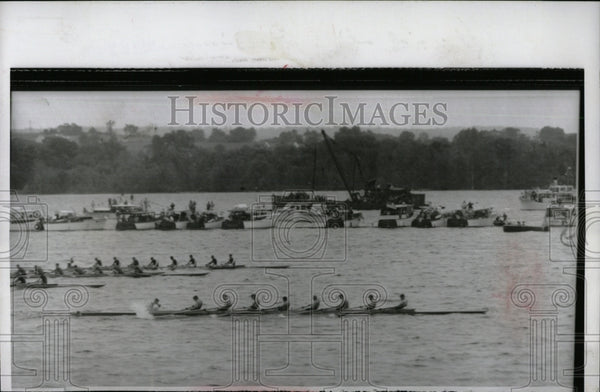 1952 Press Photo Annapolis Rowing race Princeton navy - RRW92915 - Historic Images