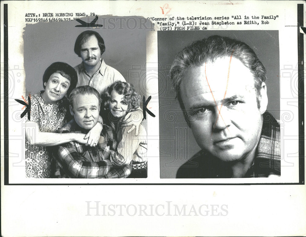 1972 Press Photo Carroll O'Connor American Actor  - Historic Images