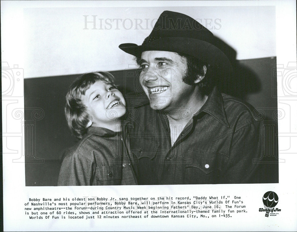 1974 Press Photo Bobby Bare Country Music Singer  - Historic Images
