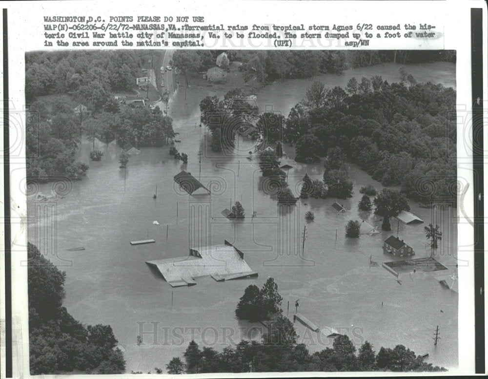 1972 Press Photo Floods Virginia - Historic Images