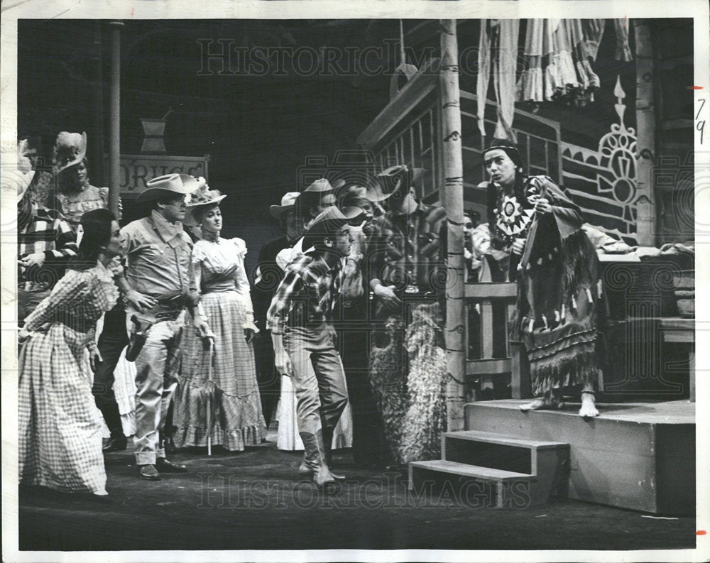 1965 Press Photo Lady From Colorado Musical Large Scene - Historic Images