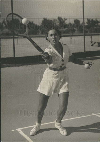 1936 Press Photo Tennis Star Dorothy Shwayder - Historic Images