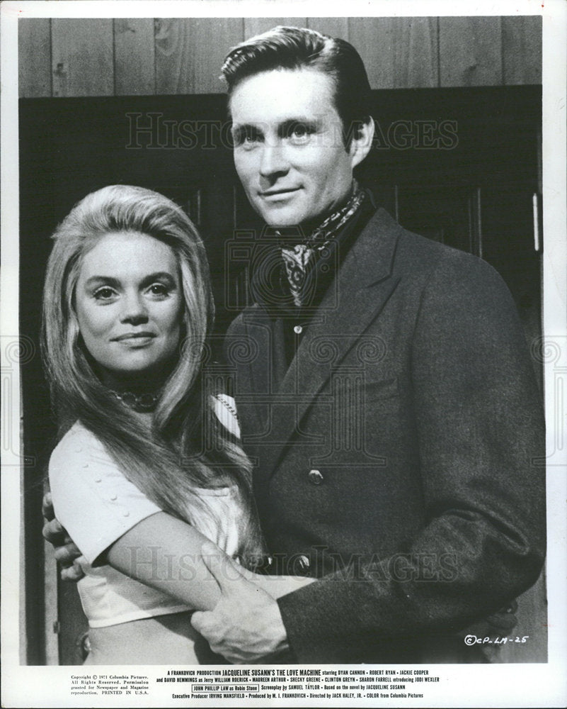 1971 Press Photo John Phillip Law Dyan Cannon Actress - Historic Images