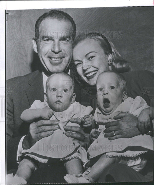 1956 Fred MacMurray June Haver Christmas - Historic Images