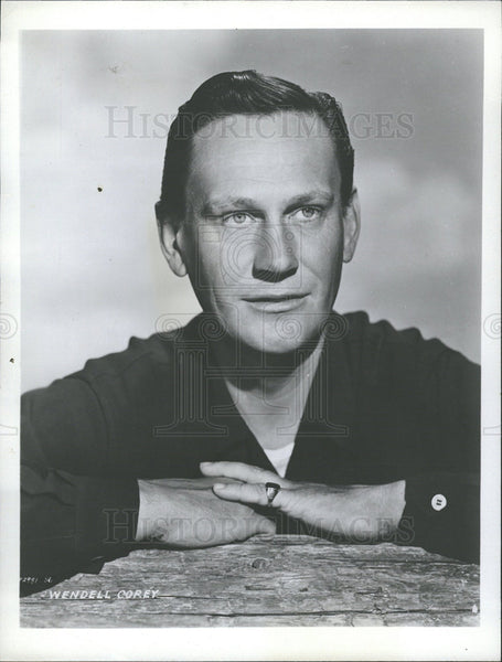 1953 Wendell Corey American Actor - Historic Images