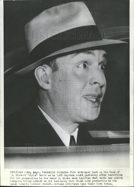 Press Photo J Richard Davis Leaving the Hines Trial - Historic Images