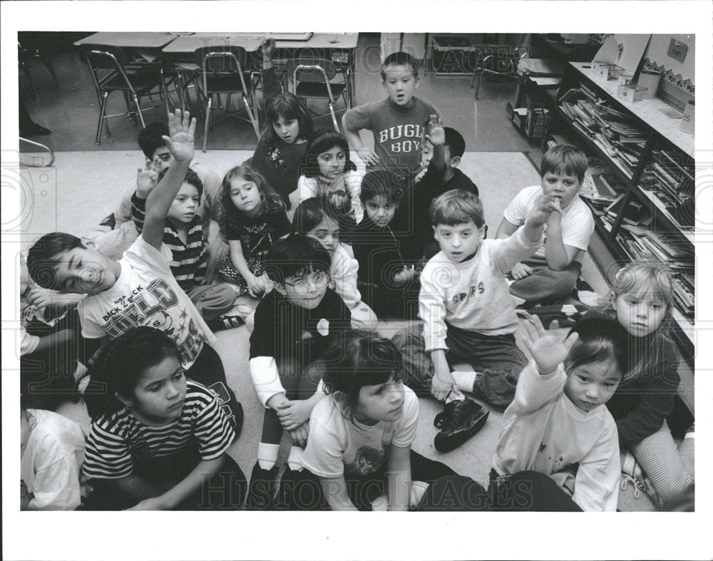 1994 Press Photo Students at East Prairie Elementary  - Historic Images