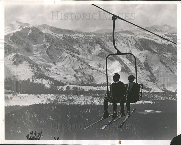 1967 Press Photo Daily News Heavenly Chairlift Sight  - Historic Images