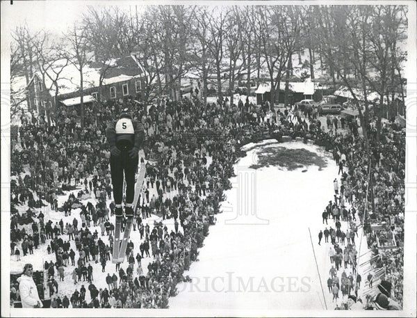 1965 Press Photo Ski Slope Norge Hill - Historic Images