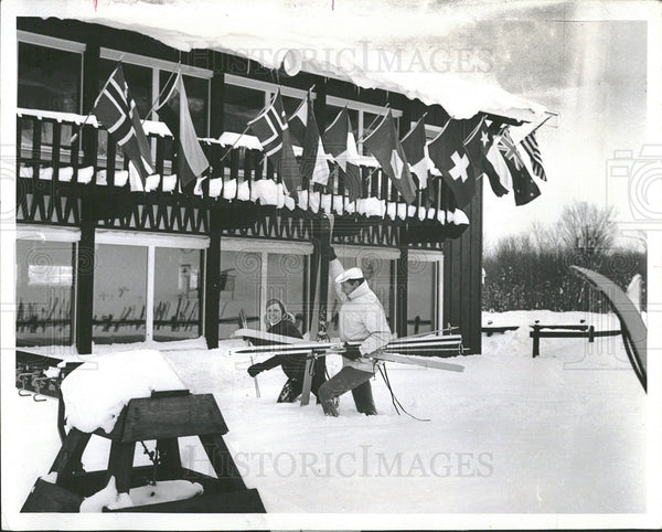 1970 Press Photo Big Powdehorn Mountain Michigan snows  - Historic Images