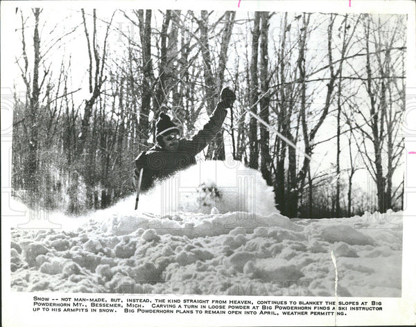 1979 Press Photo Big Powderhorn Mountain Skier Chalet  - Historic Images