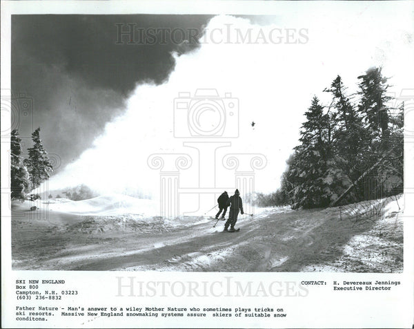 1981 Press Photo Massive New England Snow Making - Historic Images
