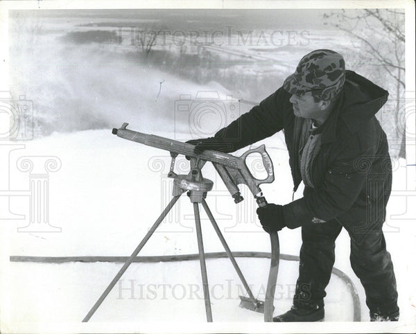 1971 Press Photo Artificial Snow-Making Equipment - Historic Images