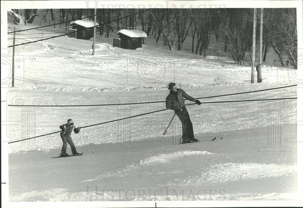 1979 Press Photo Rope Tows Skiing Buffalo Mountain - Historic Images