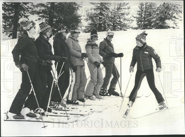 1978 Press Photo Elissa Slanger Woman's Way Ski Seminar - Historic Images