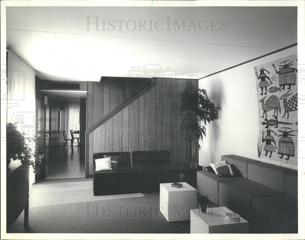 1971 Press Photo Housing View Industrialized Home Look  - Historic Images