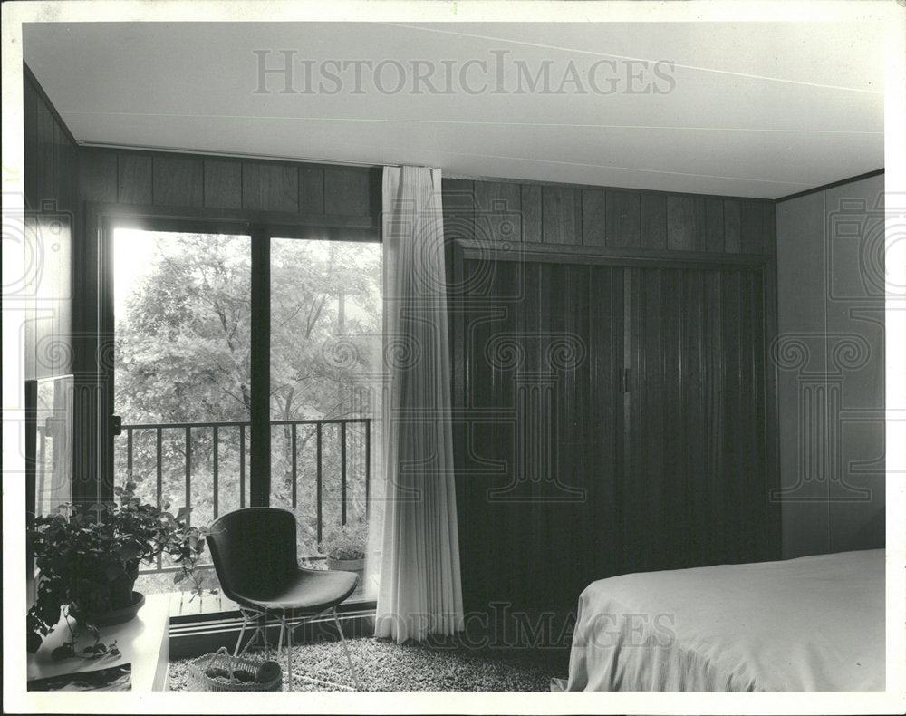 1971 Press Photo View Master Bedroom Architecture  - Historic Images