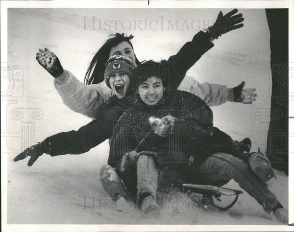1985 Press Photo Elliot Weis Debbie Martie Naomi Azuma - Historic Images