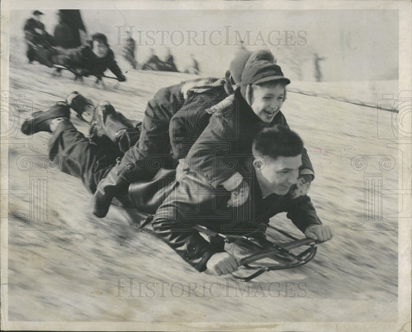 1965 Press Photo Robert Lucas Steven Cheryl Normandy - Historic Images