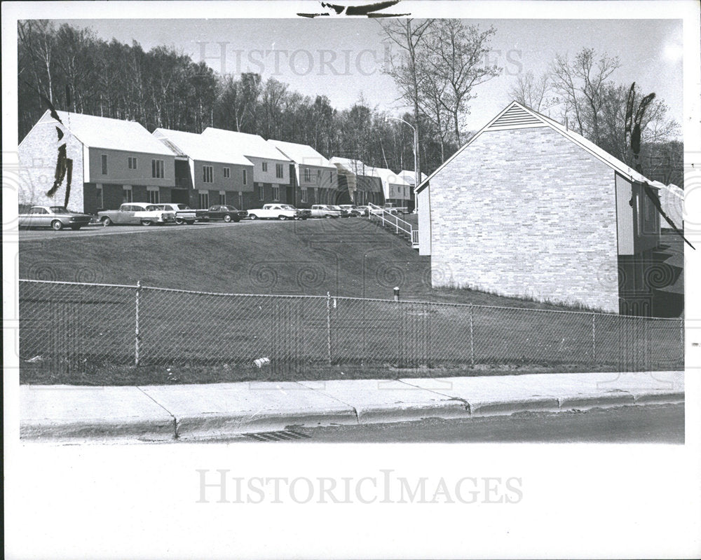 1966 Press Photo Michigan Tech Married Student Housing - Historic Images