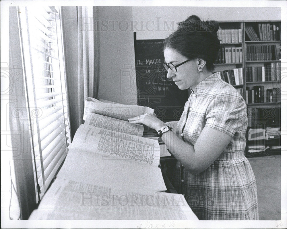 1971 Press Photo Mary Ann Tennenhouse, Gale Research - Historic Images