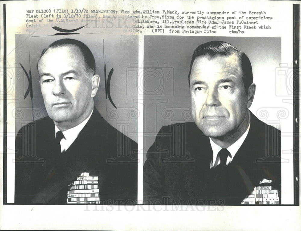 1972 Press Photo Wan P Mack US Navy General Chicago - Historic Images