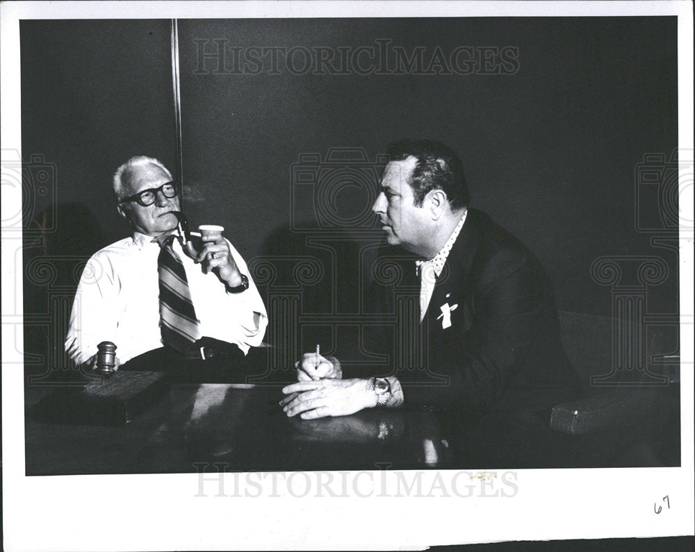 1974 Press Photo Jack Kelley Longtime Reporter Nominee  - Historic Images