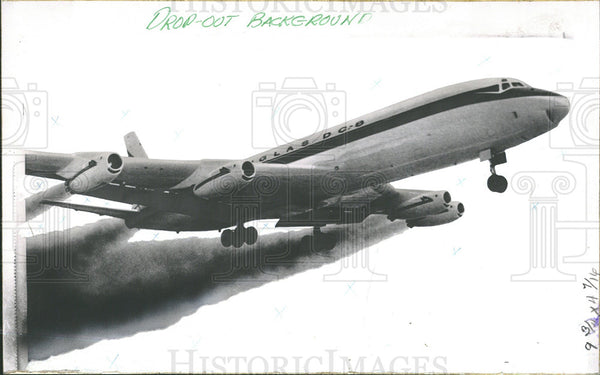 1969 Press Photo Douglas Aircraft's First DC8 Jet Plane - Historic Images