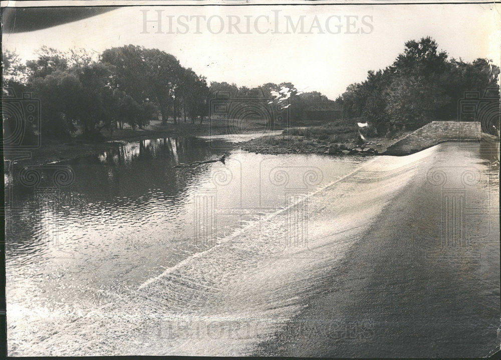1973 Press Photo Waters of DuPage River Channahon Park - Historic Images