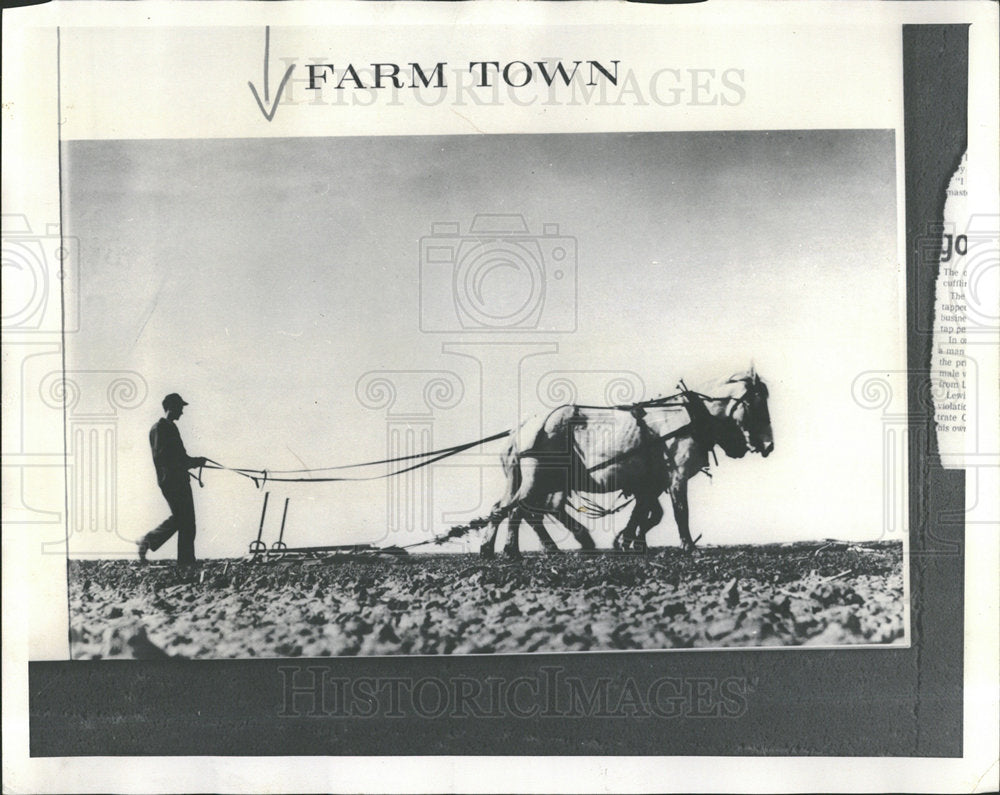 "1974 Press Photo ""Farm Town: A Memoir Of The 1930's"" - Historic Images"