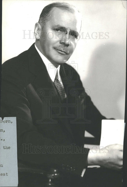 1933 Press Photo HV Kalterborn Program Current Affair  - Historic Images