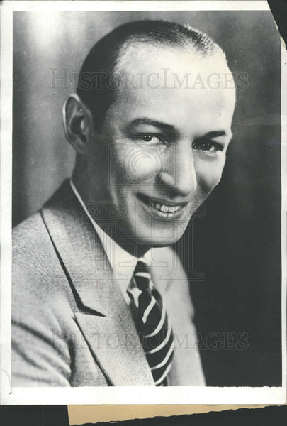 1931 Press Photo Ted Husing American Radio Sportscaster - Historic Images