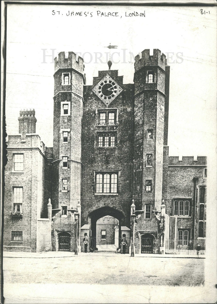 1912 Press Photo St. James's Palace, London - Historic Images