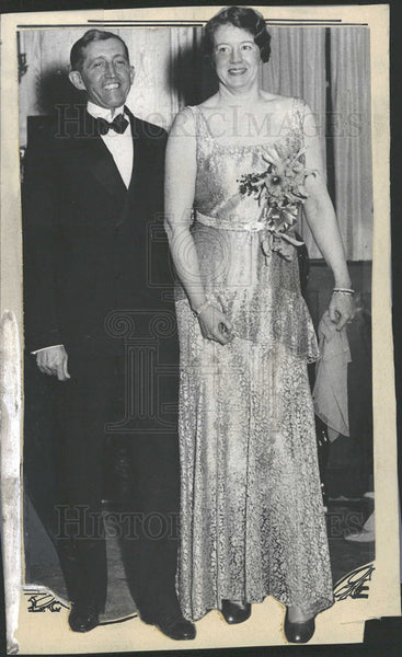 1930 William Hays with his new bride. - Historic Images