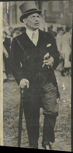 1935 Press Photo Former King George of Greece. - Historic Images