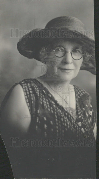 1926 Lisbeth Fish Woman Hat Glasses Dress - Historic Images