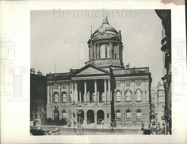 1913 Press Photo Mayor Gaynor Body Town Hall Liverpool - Historic Images