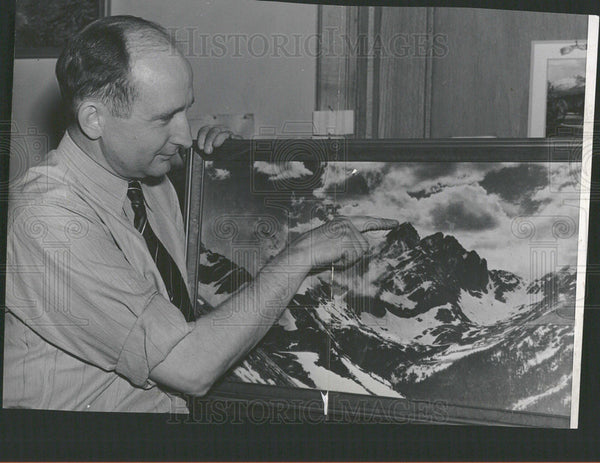 Press Photo Carl Blaurock Manufacturer mountain climber - Historic Images