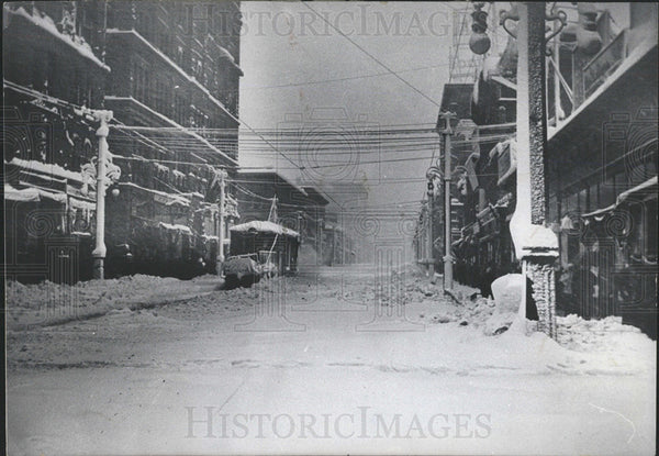 1913 Press Photo Snow Denver Streets Historic Road  - Historic Images