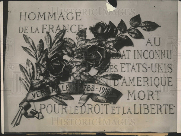 1921 Press Photo France Honors US War Dead - Historic Images