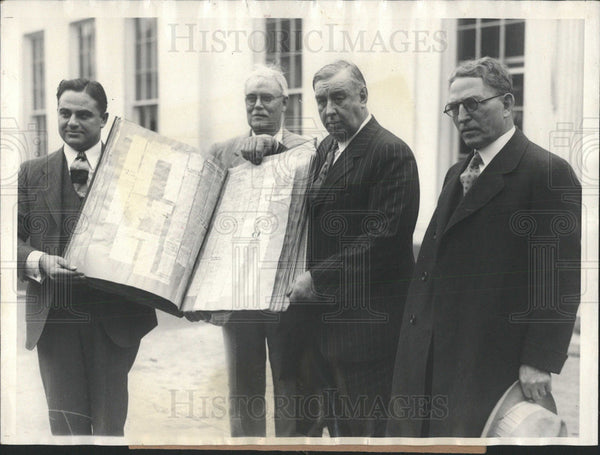 1927 Thompson Supports Flood Control Plan - Historic Images