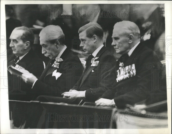 1936 Press Photo King Edward VIII/Armistice Day/WWI - Historic Images
