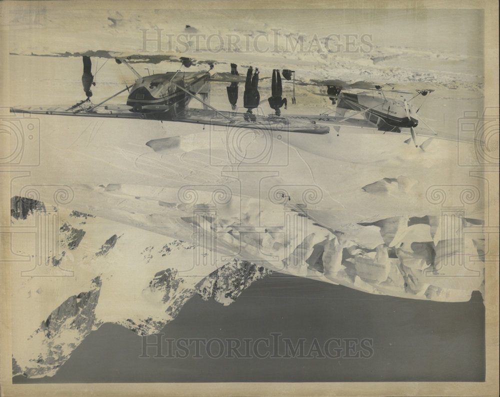 1972 Press Photo Aircraft Touchdown in the Southern Alp - Historic Images