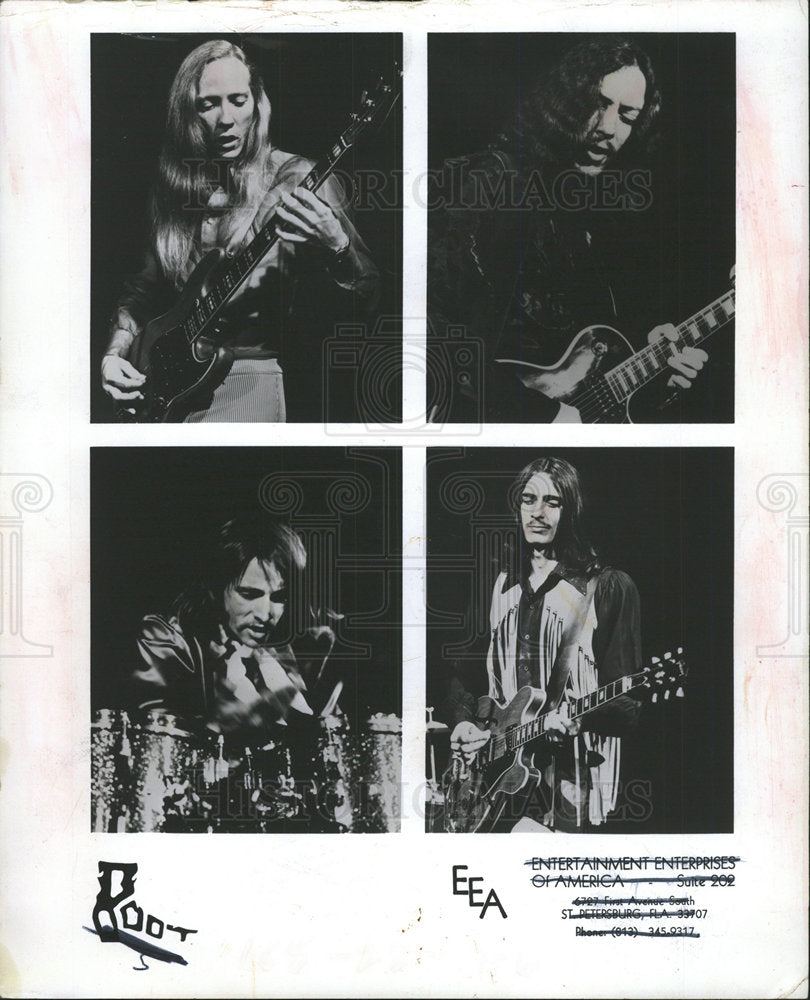 1972 Press Photo Root American Rock Band Musicians - Historic Images